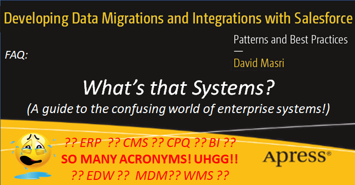 What's that System? (A guide to the confusing world of enterprise systems!)