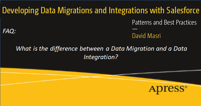 FAQ: What is the difference between a Data Migration and a Data Integration?