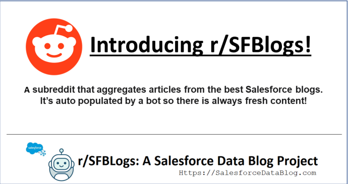Introducing r/SFBlogs! (Aggregating the best Salesforce Blogs!)